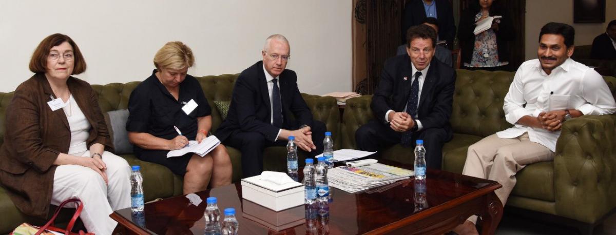 French Industries Representatives Meets YS Jagan