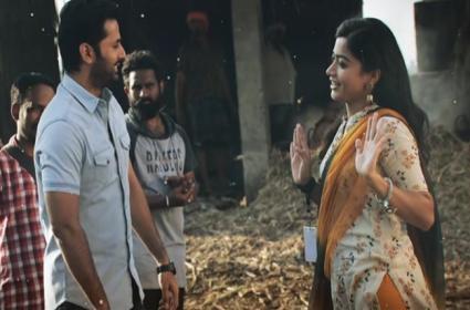 Nithiin Rashmika Bheeshma Telugu Movie Sara Sari Lyrical Song Out Sakshi